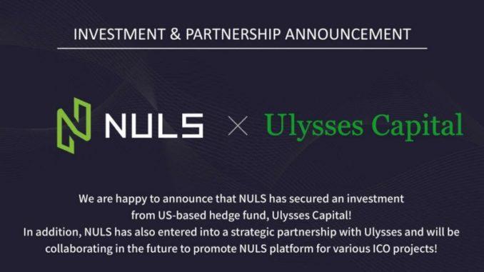 Nuls получает инвестиции от Ulysses Capital