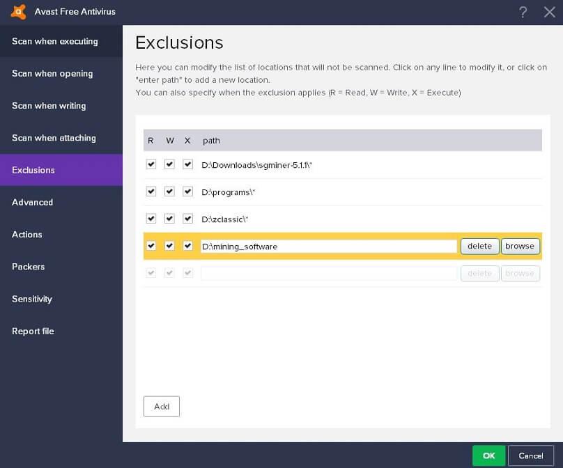 antivirus-exclusion