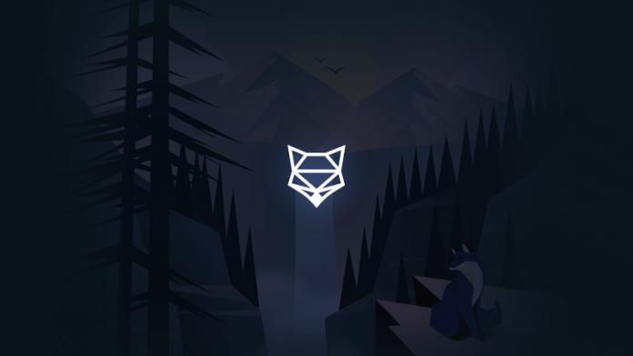 shapeshift-glowing-logo-on-waterfall