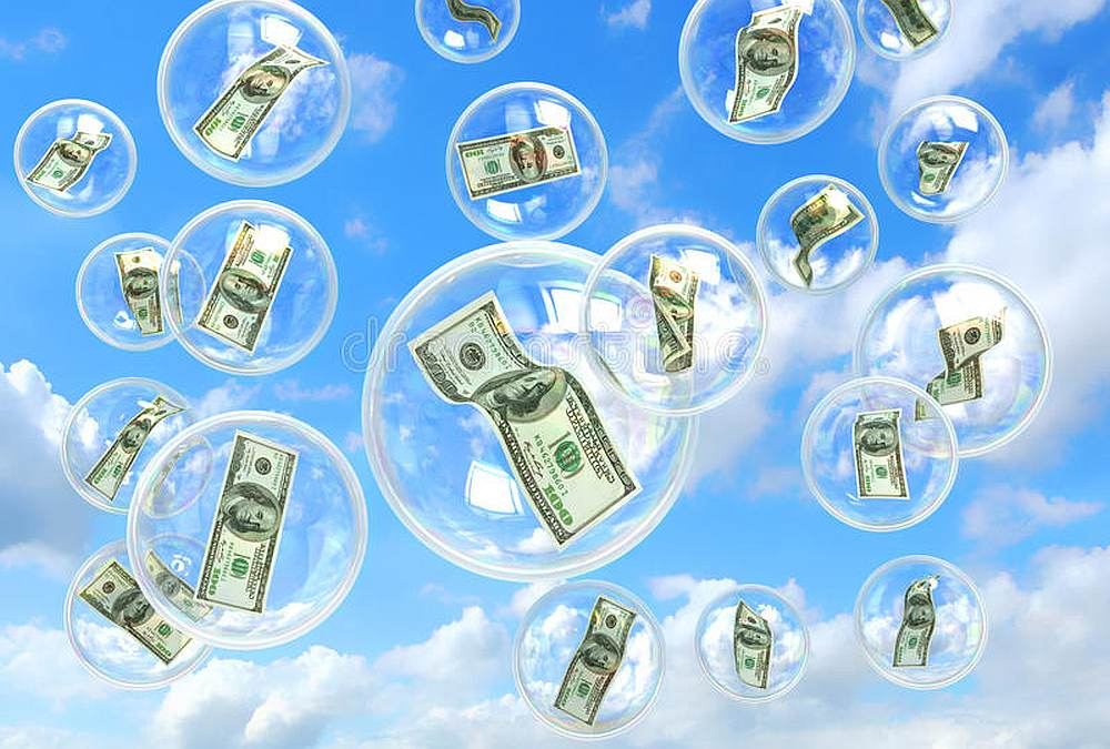 money-soap-bubbles